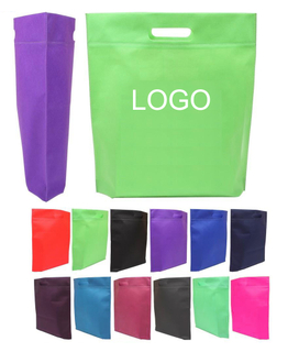 Promotional Custom Heat Seal Exhibition Cut-Out Handle Tote Bags