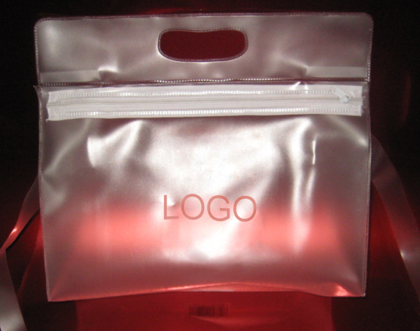 "Translucent Cosmetic Toiletry Bag - 8 "" x 3 "" x 9.5 """