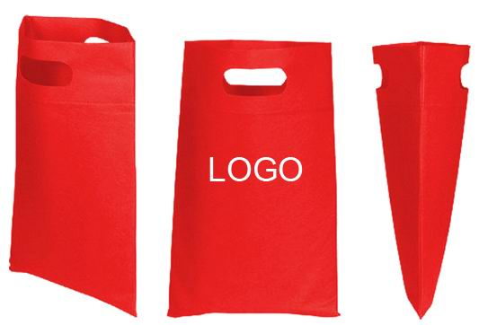Promotional Custom Die Cut Handle Tradeshow Non Woven Tote Bag
