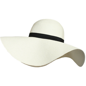Wide Rim Summer Beach Floppy Straw Band Hat
