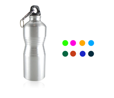 Aluminum Gym Athletic Water Bottle With Carabiner 23oz