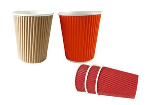 8oz. Corrugated Double Layer Paper Cup