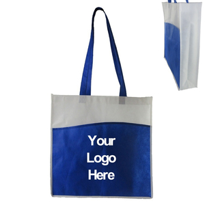 Personalized Two-tone Non-woven Tote Bag with Front Pocket