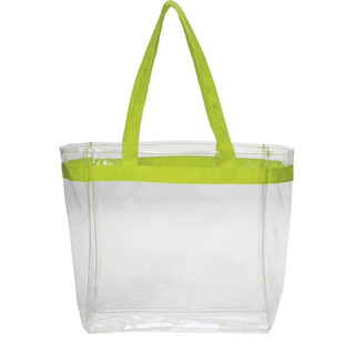 Color Handles Clear Plastic Tote Bags