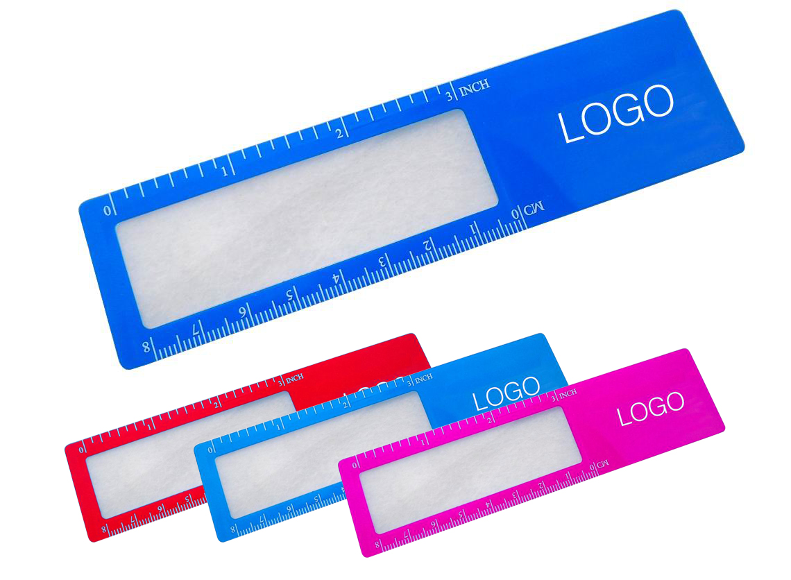 Printed Bookmarker Magnifier With Ruler