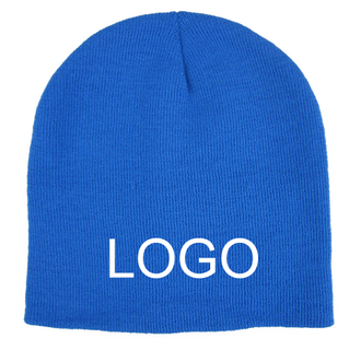 Custom Printed Unisex Acrylic Knit Beanies For Adults