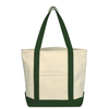 Custom Two-Tone Accent Gusseted Canvas Boat Tote Bag