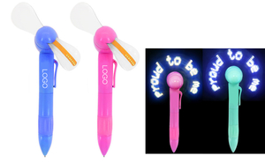 LED Light Fan Pen With Message