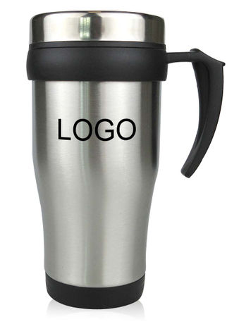 15 Oz. Stainless Steel Travel Mug With Handle