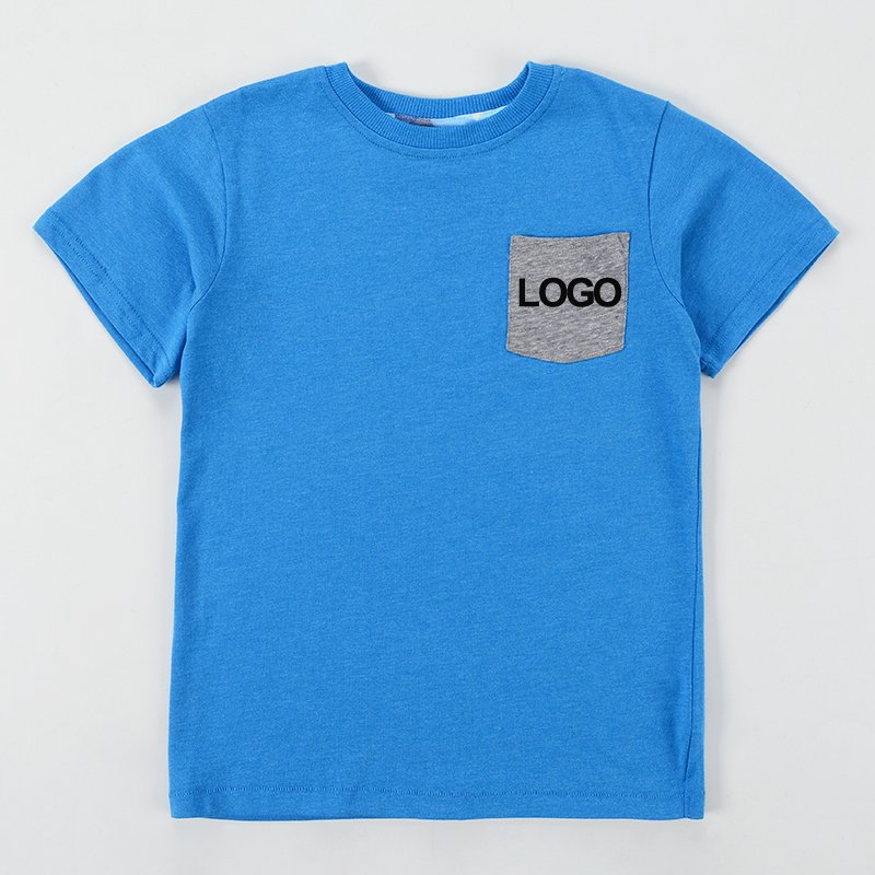 Customized Kid Youth Pocket Tee