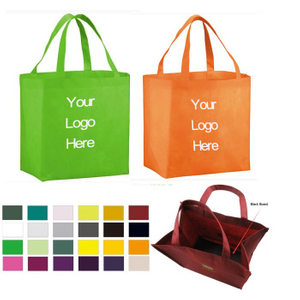 Customized Reusable Grocery Tote Bag With Plastic Bottom Board