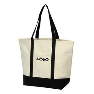 Print Canvas Boat Tote Shopping Bag