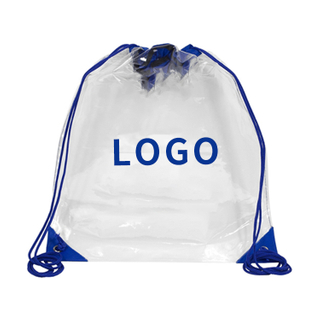 Clear Drawstring Cinch Pack Backpack