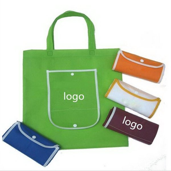 Custom Non-Woven Foldable Grocery Tote Bag