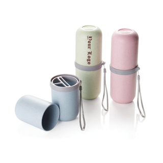 Print Travel Cup and Toothbrush Toothpaste Holder
