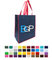 Promotional Logoed 100GSM Non-Woven Shopping Grocery Tote Bag