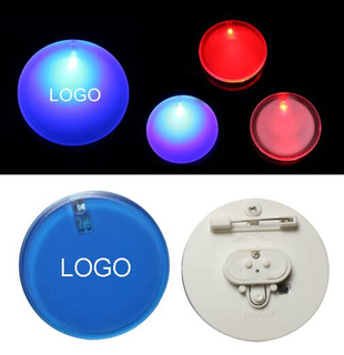 Imprinted LED Button Pin Badge