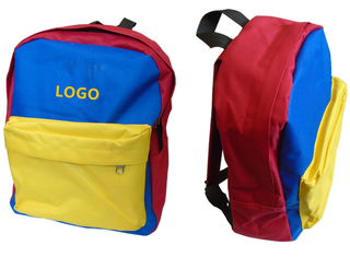 15 x 11.4 x 4.7 Inch Colorful Tri-color Kids Travel Backpack