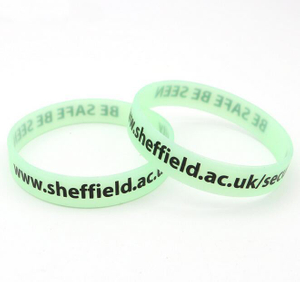 Customized Glow In Dark Debossed Inkfilled Silicone Wristbands