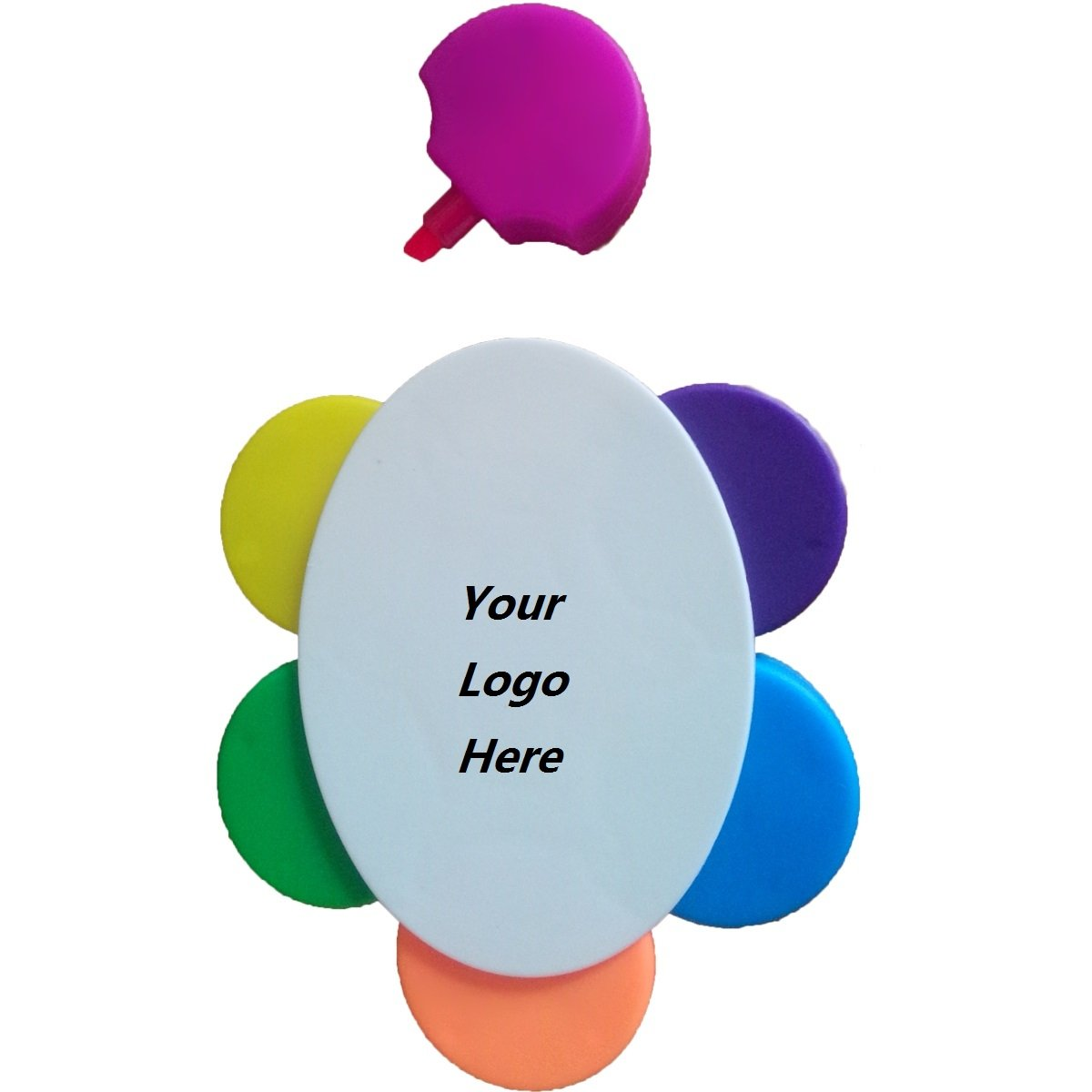 Promotional Flower Shaped 5 Color Highlighter Marker