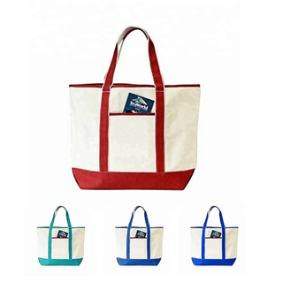 Wholesale Two Tones Deluxe Canvas Tote Bag