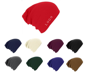 Knit Fabric Beanie Hats