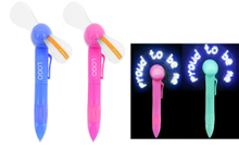 Promotional LED Light Fan Pen With Message