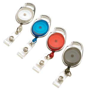 Promotional Carabiner Badge Reels with Belt Clip