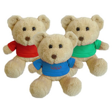 "Print 8 1/2"" Sitting Stuffed Plush Bear With T-shirt"