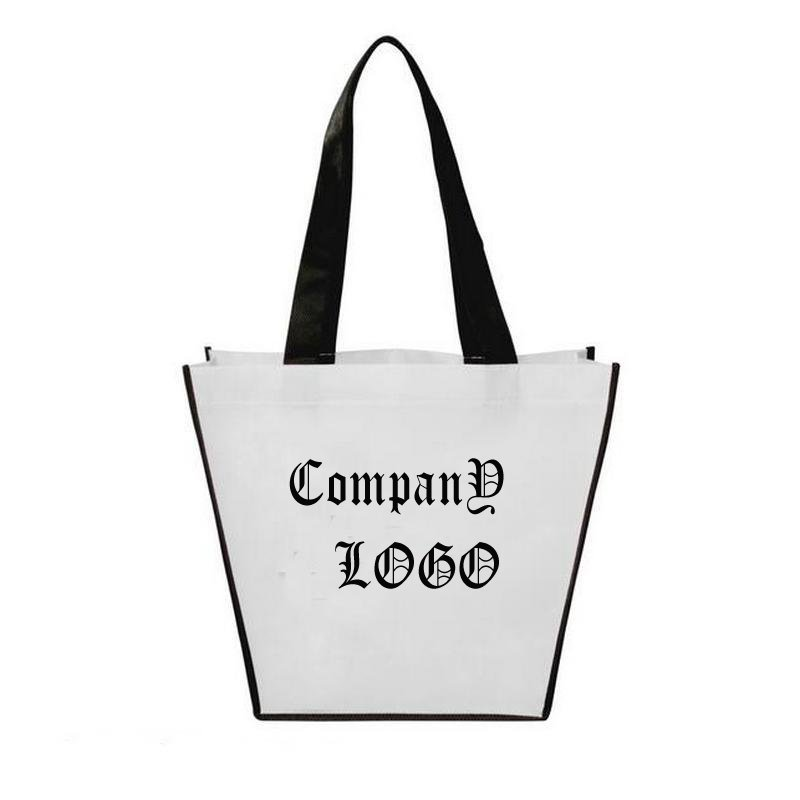 Custom Promotional Grocery Tote Shopping Bag 100GSM Non Woven with Logo