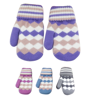 Knitted Warm Winter Mittens With One Finger