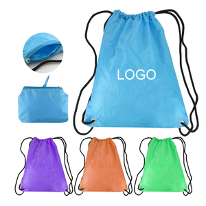18 1/2L x 15 3/4 W Inch Foldable Waterproof Drawstring Backpacks