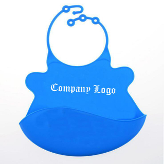Imprinted Washable Roll Up Silicone Baby Bibs