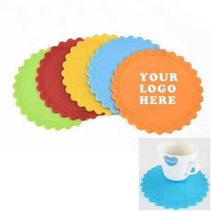 Imprinted Flower Shape Cup Holder Coaster