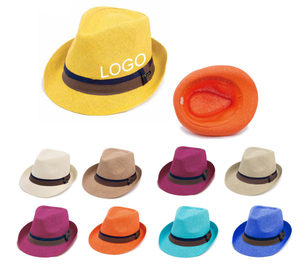 Custom Fedora Straw Hat With Logo