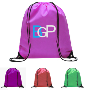 Drawstring Backpack Bag With Inside Pocket