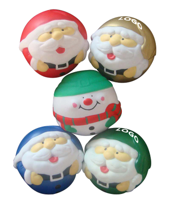 Santa Advertising Stress Reliever Ball